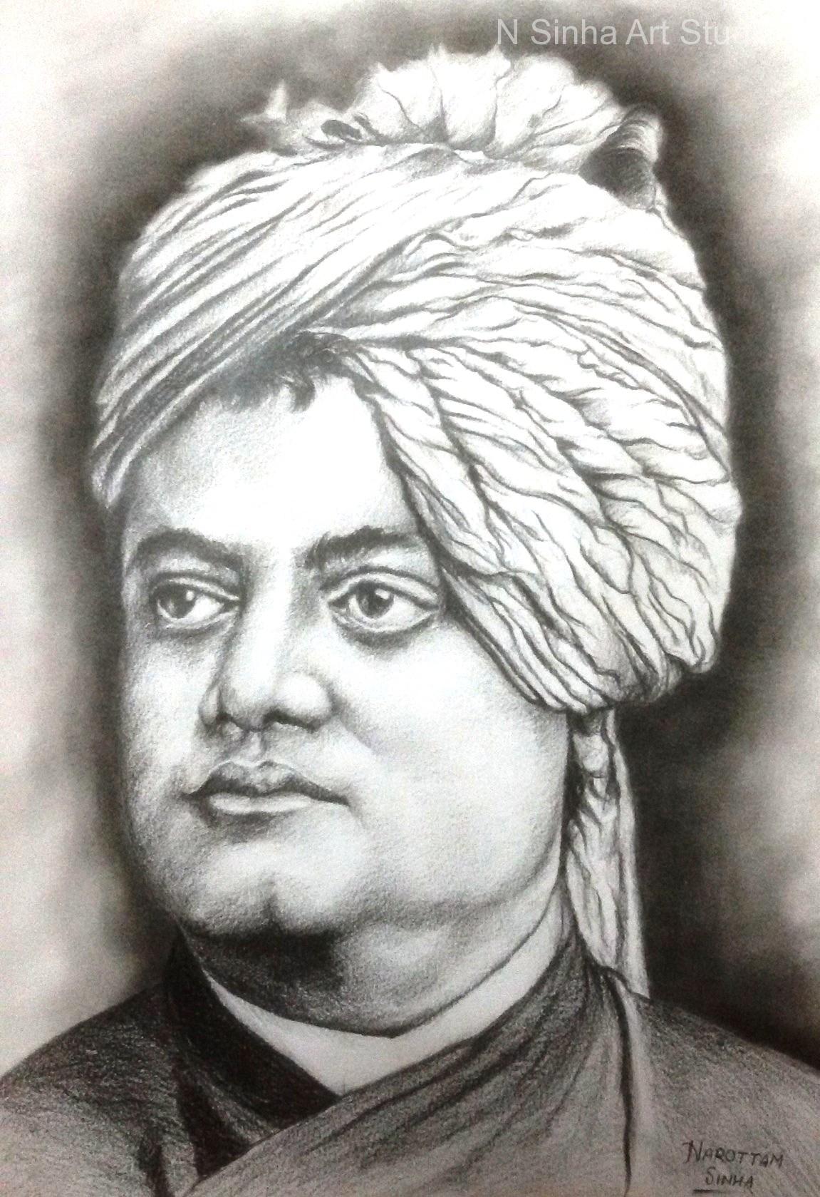 Charcoal pencil sketch portrait artist in delhi 91